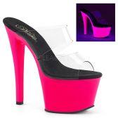 SKY-302UV Svítící růžové pantofle sky302uv/c/nhp