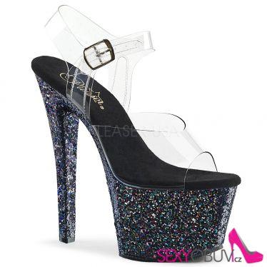 SKY-308LG Černé boty na vysokém podpatku a platformě sky308lg/c/bmg