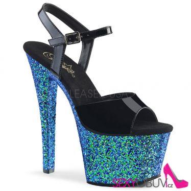 SKY-309LG Modro černé sexy boty sky309lg/b/blg