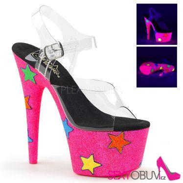 ADORE-708UVGSTR Růžové svítící sexy boty ado708uvgstr/c/nhpg