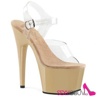 ADORE-708 Krémové sexy sandály na vysokém podpatku ado708/c/cr