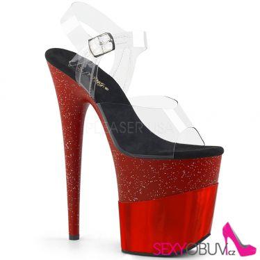 FLAMINGO-808-2HGM Červené sandály na extra vysokém podpatku flam808-2hgm/c/rghg