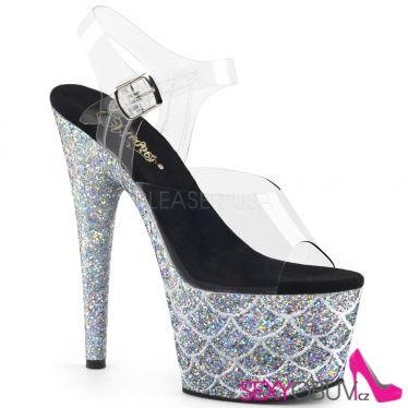 ADORE-708MSLG Stříbrné luxusní sexy boty ado708mslg/c/sg