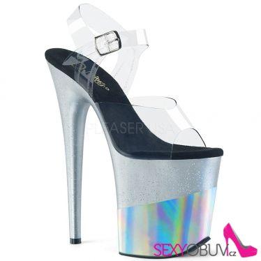 FLAMINGO-808-2HGM Stříbrné sexy boty na extra vysokém podpatku flam808-2hgm/c/sghg