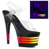 ADORE-708UVLN Svítící sexy boty s pruhy ado708uvln/c/b-nmc
