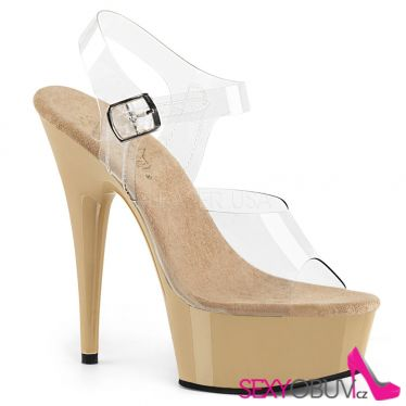 DELIGHT-608 Krémové sexy boty na pole dance del608/c/cr