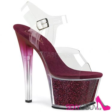 SKY-308G-T Rudé boty pro tanec na tyči sky308g-t/c/brgi