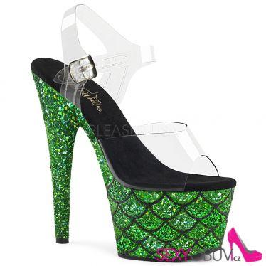 ADORE-708MSLG Zelené luxusní sexy boty ado708mslg/c/gng