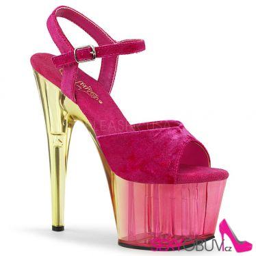 ADORE-709MCT Růžovo žluté sexy boty ado709mct/pnvel/dt