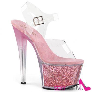 SKY-308G-T Růžové boty pro tanec na tyči sky308g-t/c/bpgi