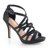 DAPHNE-42 Černé páskové společenské sandály daphne42/bfa