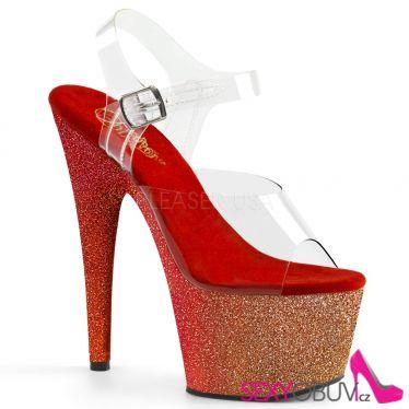 ADORE-708OMBRE Sexy obuv na vysokém podpatku a platformě ado708ombre/c/gld-r