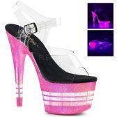 ADORE-708UVLN Růžové svítící sexy boty s pruhy ado708uvln/c/nbgmpng