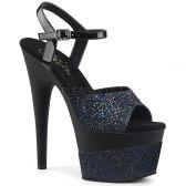ADORE-709-2G Černé taneční sex boty na vysokém podpatku a platformě se třpytkami ado709-2g/bg/m