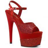 ADORE-709-2G Červené sexy boty ado709-2g/rg/m s třpytkami na vysokém podpatku a s platformou