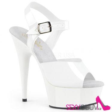 DELIGHT-608N Bílé boty na vysokém podpatku del608n/wtpu/m