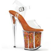 FLAMINGO-808GF Oranžové boty na extra vysokém podpatku flam808gf/c/omcg