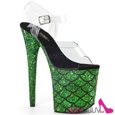 FLAMINGO-808MSLG Zelené boty na extrémním podpatku flam808mslg/c/gng