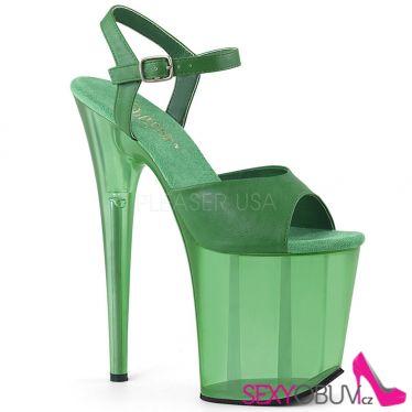 FLAMINGO-809T Zelené boty na extra vysokém podpatku flam809t/grnpu/m