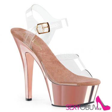 KISS-208 Sexy růžové boty na podpatku a platformě kiss208/c/rogldch