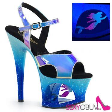 MOON-711MER Modré strip boty mořská pana moon711mer/blu/m