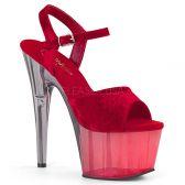 ADORE-709MCT Červeno šedivé sexy boty ado709mct/rvel/dt