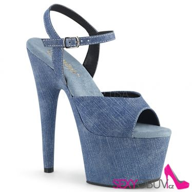 ADORE-709WR Modré denim sexy sandály ado709wr/dmpu/m