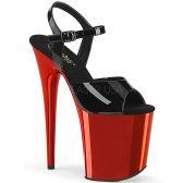 FLAMINGO-809 Červeno černé sexy boty flam809/b/rch