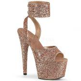 ADORE-791LG Zlato růžové sandály s glitry ado791lg/rogldg/m