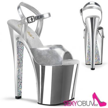 XTREME-809TTG Stříbrné extra vysoké boty xtm809ttg/smpu/sch