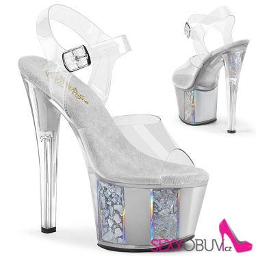 SKY-308OF Stříbrné taneční sandály sky308of/c/s